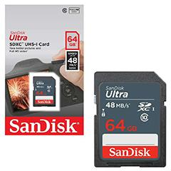 SanDisk Ultra SDXC 64GB Class 10 48MB/s UHS-1