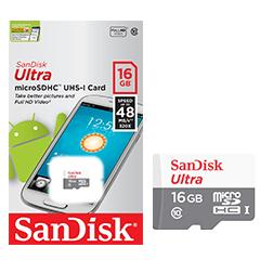 SanDisk Ultra Micro SDHC 16GB Class 10 48MB/s UHS-1