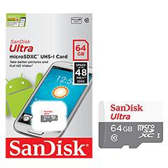 SanDisk Ultra Micro SDXC 64GB Class 10 48MB/s UHS-1