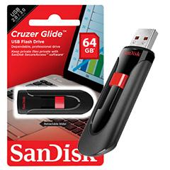 SanDisk USB2.0 (CZ60) - 64GB (Black)